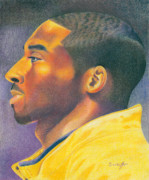 Kobe Bryant Drawings Prints - The MVP Print by Keith Burnette