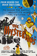 1950s Poster Art Framed Prints - The Mysterians, 1957 Framed Print by Everett