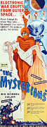 1957 Movies Prints - The Mysterians, Insert Poster Art, 1957 Print by Everett