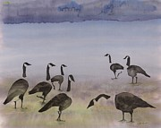 Geese Tapestries - Textiles - The Mysteries of Miration 2 by Carolyn Doe