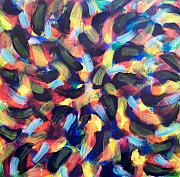 Abstract And Or Expressionistic Work - The Mysterious Matrix Multiplies by Charles Peck