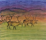 Grass Tapestries - Textiles Metal Prints - The Mystery of Migration Metal Print by Carolyn Doe