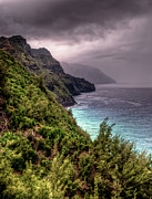 Kalalau Trail Posters - The Na Pali Coast Poster by Natasha Bishop