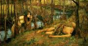 Waterhouse Paintings - The Naiad by John William Waterhouse