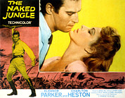 1950s Movies Framed Prints - The Naked Jungle, Charlton Heston Framed Print by Everett