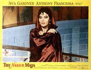 1950s Portraits Posters - The Naked Maja, Ava Gardner, 1958 Poster by Everett