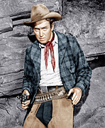 Cowboy Hat Framed Prints - The Naked Spur, James Stewart, 1953 Framed Print by Everett