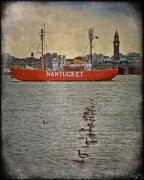 Geese Digital Art Posters - The Nantucket on the Hudson Poster by Chris Lord