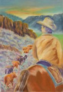 Oregon Pastels Prints - The Narrow Pass Print by Angela  Harris