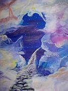 Angels Painting Originals - The Narrow way by Wendy Smith