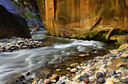 The Edge Prints - The Narrows A Bend In The River Print by Bob Christopher