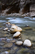 Nature Photo Photos - The Narrows One Step At A Time by Bob Christopher