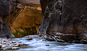 Sacred Earth Framed Prints - The Narrows Time And The River Flowing Framed Print by Bob Christopher