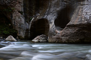 Virgin River Prints - The Narrows  Worn Down Print by Bob Christopher