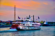 Riverboat Prints - The Natchez on the Mississippi Print by Bill Cannon