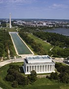 Cities Photos - The National Mall With Lincoln Memorial by Everett