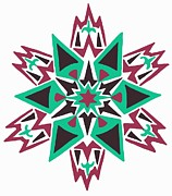 Diamond Drawings Prints - The Native Star Print by The Algonquin Blonde