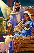 Christian Pastels Posters - The Nativity Poster by Valerian Ruppert