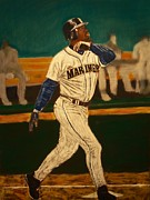 Ken Griffey Jr. Pastels Posters - The Natural Poster by D Rogale