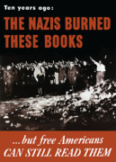 Speech Framed Prints - The Nazis Burned These Books Framed Print by War Is Hell Store