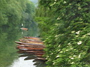 The Neckar River Print by Nikolay Vakatov