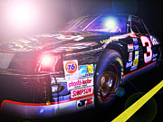 Nascar Digital Art Prints - The Need For Speed 3 Print by Kenneth Krolikowski