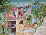 Mexicano Painting Metal Prints - The Neighborhood Metal Print by Jim Barber Hove