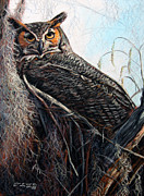 Woods Pastels Prints - The Nest Print by Deb LaFogg-Docherty