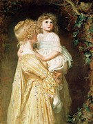 Mother And Young Framed Prints - The Nest Framed Print by Sir John Everett Millais 