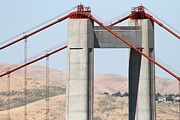 Carquinez Strait Metal Prints - The New Alfred Zampa Memorial Bridge aka The Carquinez Bridge . 7D168910 Metal Print by Wingsdomain Art and Photography