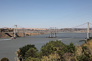 San Pablo Bay Framed Prints - The New Alfred Zampa Memorial Bridge and The Old Carquinez Bridge . 5D16737 Framed Print by Wingsdomain Art and Photography