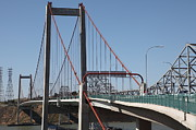 Eastshore Freeway Posters - The New Alfred Zampa Memorial Bridge and The Old Carquinez Bridge . 5D16823 Poster by Wingsdomain Art and Photography