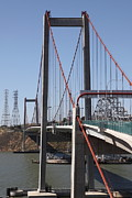 Carquinez Bridge Prints - The New Alfred Zampa Memorial Bridge and The Old Carquinez Bridge . 5D16824 Print by Wingsdomain Art and Photography