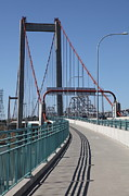Eastshore Freeway Posters - The New Alfred Zampa Memorial Bridge and The Old Carquinez Bridge . 5D16833 Poster by Wingsdomain Art and Photography