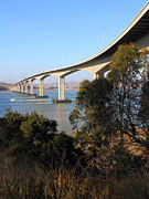 Bay Bridge Photos - The New Benicia-Martinez Bridge Across The Carquinez Strait in California . 7D10437 by Wingsdomain Art and Photography