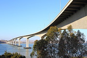Bay Bridge Photos - The New Benicia-Martinez Bridge Across The Carquinez Strait in California . 7D10438 by Wingsdomain Art and Photography