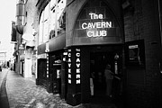 Cavern Club . Framed Prints - The New Cavern Club In Mathew Street In Liverpool City Centre Birthplace Of The Beatles Merseyside Framed Print by Joe Fox