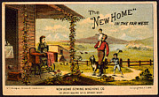 1880s Framed Prints - The New Home In The Far West. Trade Framed Print by Everett