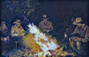 Campfire Paintings - The new Joke by RW Cooke