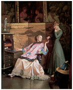 Fine American Art Posters - The New Necklace Poster by William McGregor Paxton