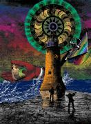 Surrealistic Digital Art Framed Prints - The New Pharos Framed Print by Eric Edelman