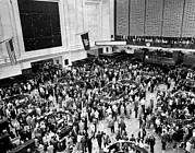 New York Stock Exchange Prints - The New York Stock Exchange Minutes Print by Everett