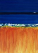 Oceans Paintings - The Next Big Wave by Frances Marino