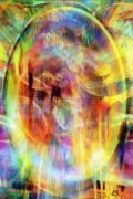 Circle Abstracts Digital Art - The Next World by Linda Sannuti