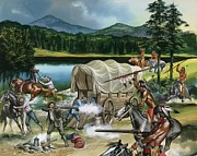 Covered Wagon Posters - The Nez Perce Poster by Ron Embleton