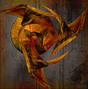 Lacy Abstract Posters - The Night Dancers Poster by Anne Lacy