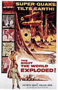 1957 Movies Framed Prints - The Night The World Exploded, William Framed Print by Everett