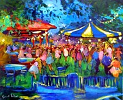 Concert Painting Originals - The night to the carrousel by Valtier
