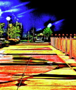 Streetlight Digital Art - The Night Walk by Xn Tyler