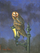 Owl Paintings - The Night Watch by Jeff Brimley